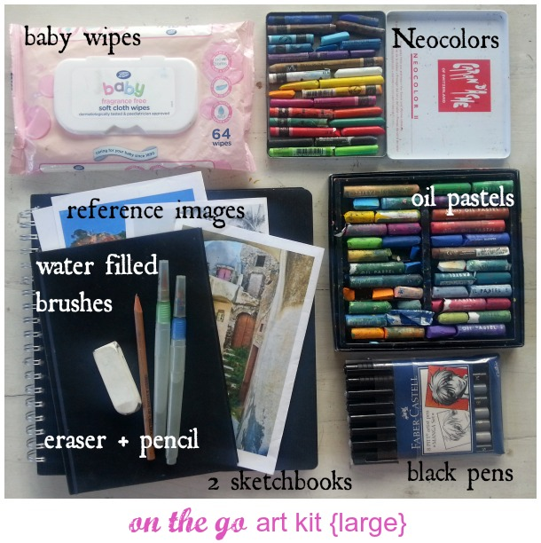 on the go art kit
