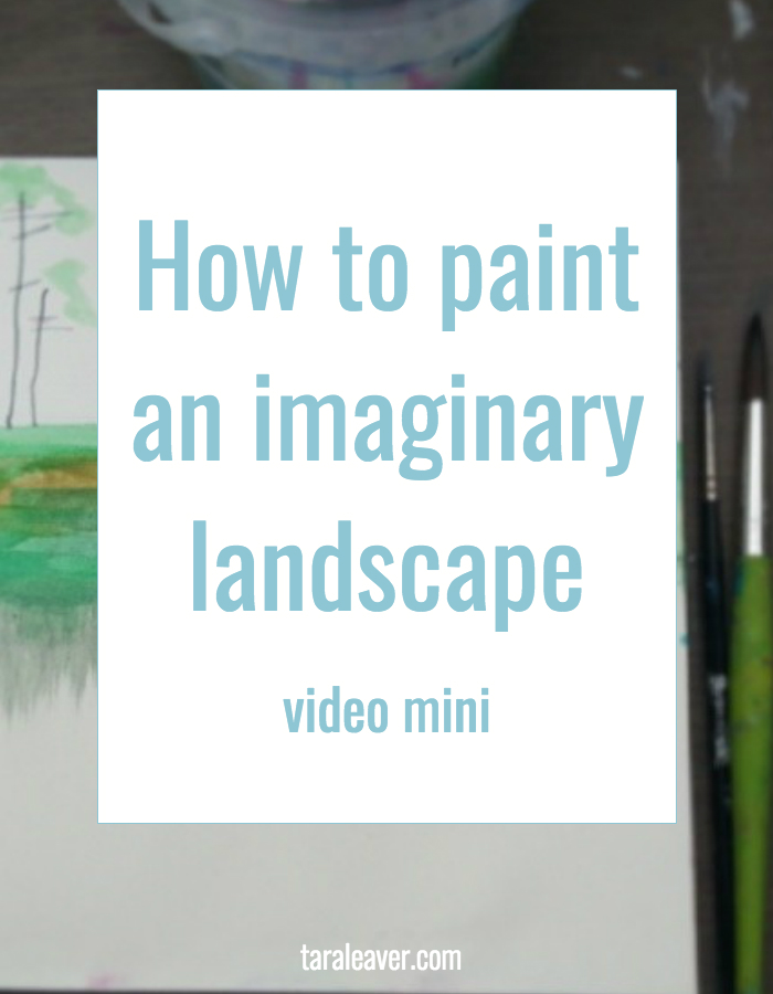 how to paint an imaginary landscape