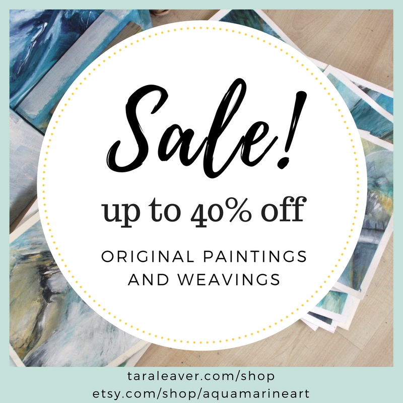 Magnificent Moving Sale! 4 - 8 September 2017, all original paintings and weavings up to 40% off