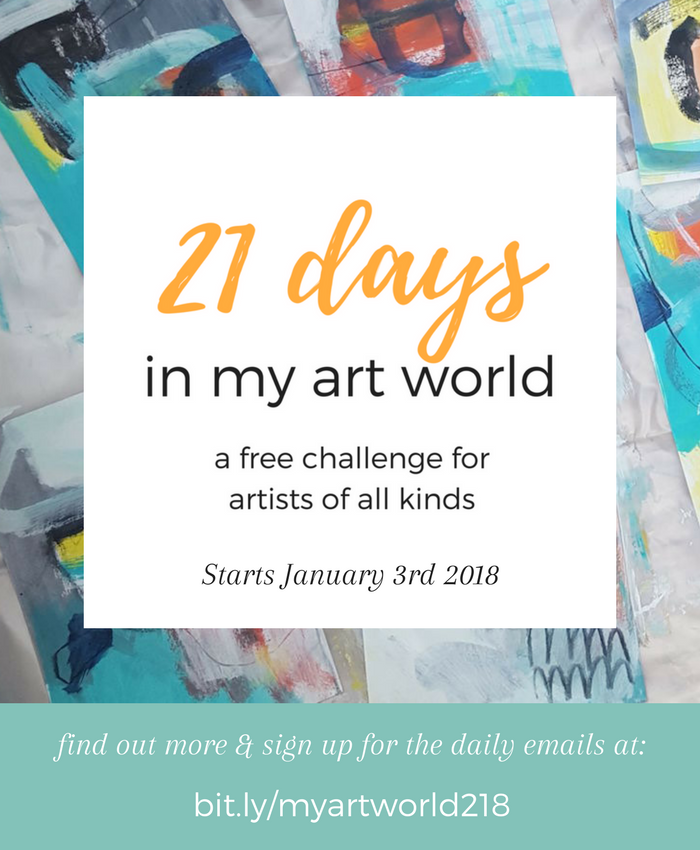 21 days in my art world - a free challenge for artists of all kinds