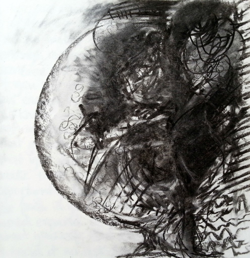 charcoal markmaking