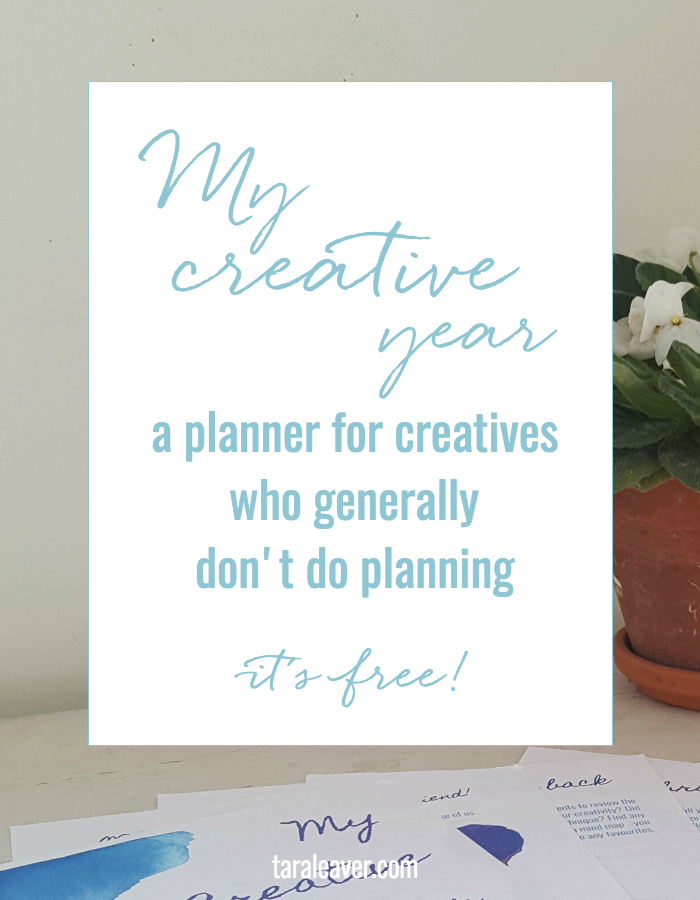 My Creative Year - a free simple creativity tracker for those of us who like to keep our plans flexible and open :)