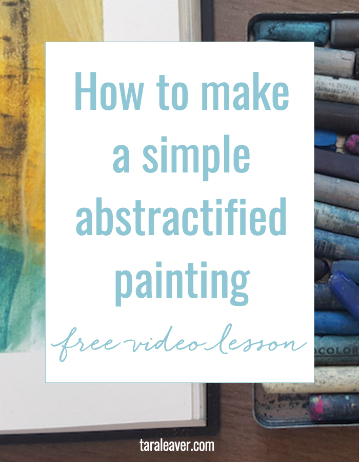 Free painting video lesson: How to make a simple abstractified painting