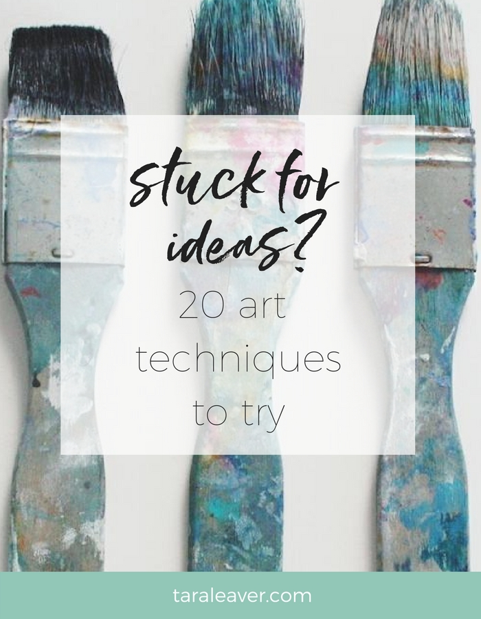 Stuck for ideas? 20 art techniques to try