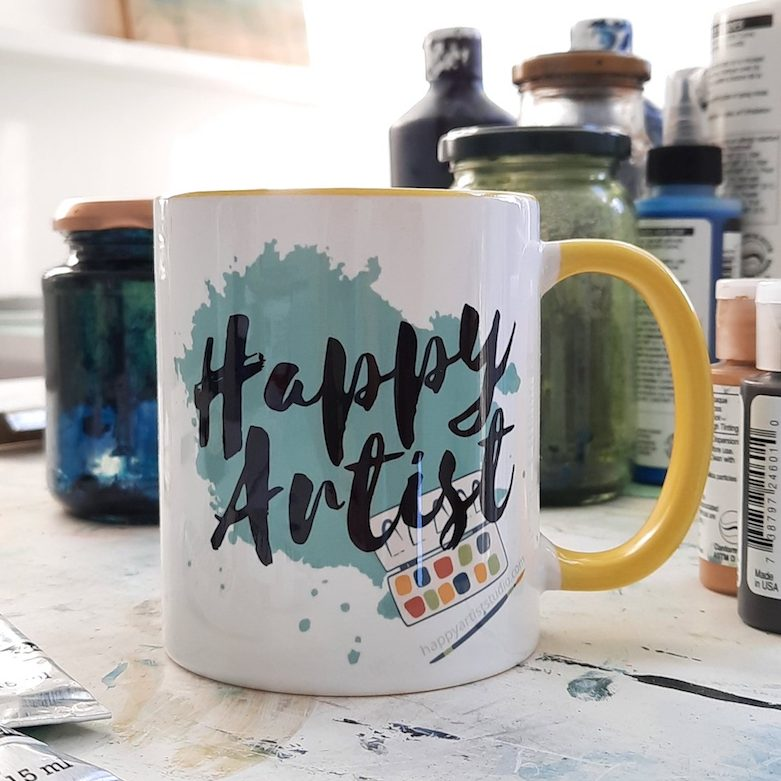 Click here to get your own Happy Artist mug