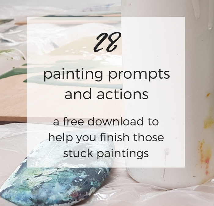 28 Painting Prompts and Actions: A free download