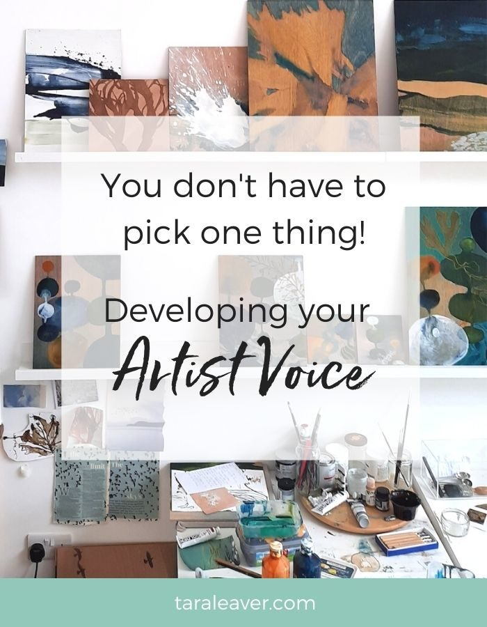 You don't have to pick one thing! Developing your artist voice